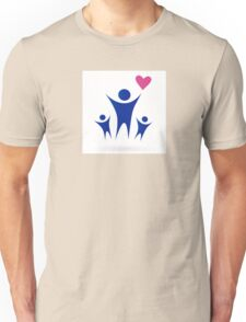 Family, Health and Community icon isolated on white Unisex T-Shirt