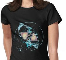 TROPICAL FISH On Black Womens Fitted T-Shirt
