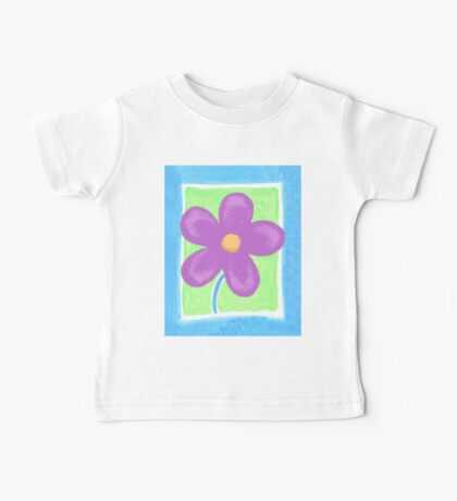 Purple flower Baby Tee