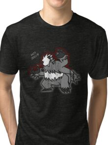 Pangoro Distressed Style Tri-blend T-Shirt