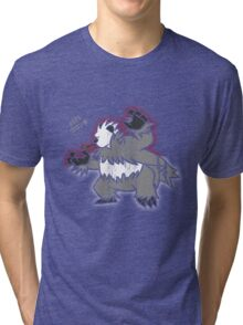 Pangoro Distressed Style Tri-blend T-Shirt