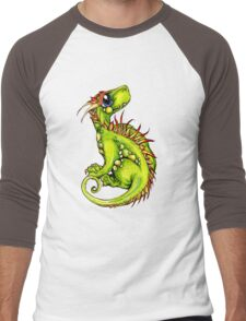 Baby Green Dragon Men's Baseball ¾ T-Shirt