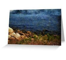 Stars Falling into the Sea Greeting Card