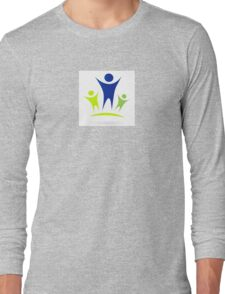 Vector pictogram inspired by people, family, love, nature and togetherness Long Sleeve T-Shirt