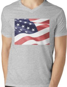 America, Colored pencils and inkpen US flag Mens V-Neck T-Shirt