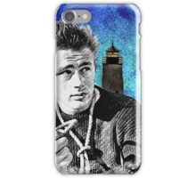 James Dean Lighthouse Portrait, Rebel Without a Cause  iPhone Case/Skin