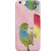 """AndreaEL's """"Holding the Apple Up!"""" in Pastel...  (Wax Eye NZ – Southland) iPhone Case/Skin"""
