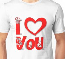 I heart love you Unisex T-Shirt