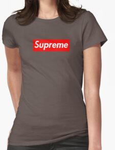 Supreme | Large | Red Background | High Quality!  Womens Fitted T-Shirt