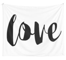 Hand Written Love Trending Girlish Text #stickers #tapestry Wall Tapestry