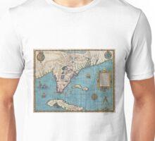 Vintage Map of Florida (1591)  Unisex T-Shirt