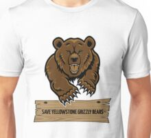 Save Yellowstone Grizzly Bears Unisex T-Shirt