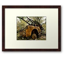 Abandoned Chevy - He's not heavy... Framed Print
