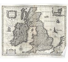 Vintage Map of England and Ireland (1631)  Poster