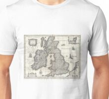 Vintage Map of England and Ireland (1631)  Unisex T-Shirt