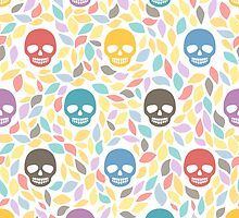 Funny sugar skulls by kite-kit