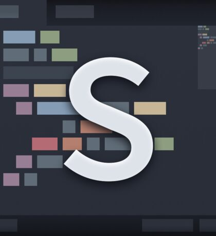 Sublime Text (realistic design) Sticker