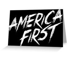 America Fist! Greeting Card