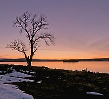 Sunset at Lochindorb by OpalFire