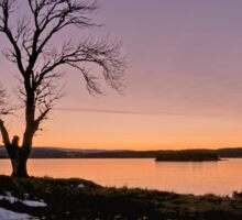 Sunset at Lochindorb Sticker