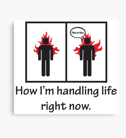How I'm handling life right now. Funny Quote Canvas Print