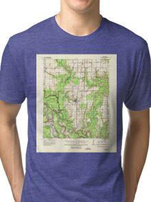 USGS TOPO Map Arkansas AR Gillett 260069 1935 62500 Tri-blend T-Shirt