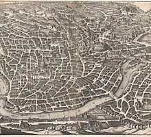Vintage Map of Rome Italy (1652)  by BravuraMedia