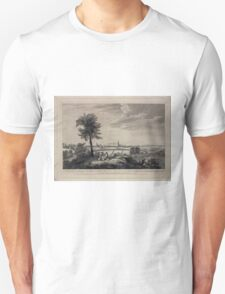 024 A south east view of the City of New York in North America 1 New Colledge 2 Old English Church 3 City Hall 4 French Church 5 North River 6 Staten Island 7 The prison Unisex T-Shirt