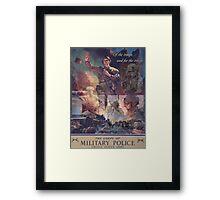 U S Army Military Police 75th Anniversary Art  Framed Print