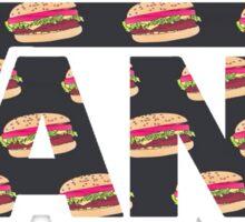 Vans Burger Pattern Sticker