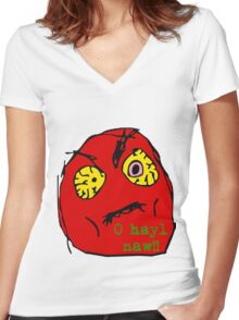 Hell No! Women's Fitted V-Neck T-Shirt