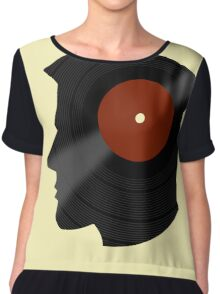 Vinyl Records Lover - The DJ - Vinylized Man Chiffon Top