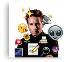 Mulder emoji collage Canvas Print
