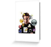 Mulder emoji collage Greeting Card