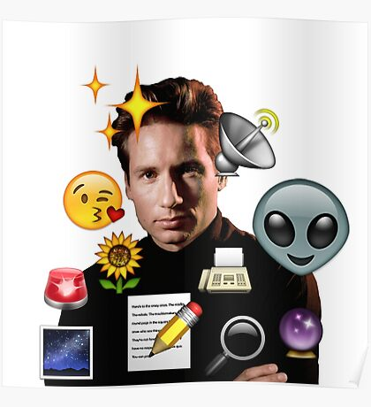 Mulder emoji collage Poster