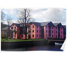 Riverside Dwellings Poster