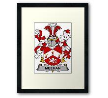 Meehan Coat of Arms (Irish) Framed Print