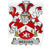 Meehan Coat of Arms (Irish) Poster