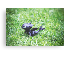 How to Train Your Dragon - Toothless Mini Figurine Canvas Print