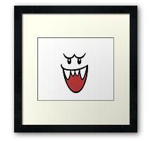 Super Mario Bros Boo Face Framed Print