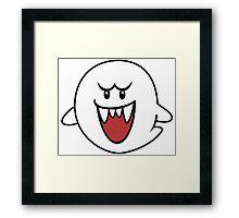 Super Mario Bros Boo Shape Design Framed Print