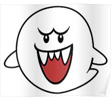 Super Mario Bros Boo Shape Design Poster