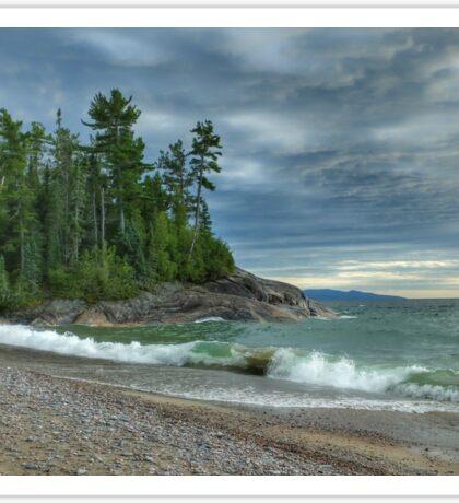 Agawa Bay. Lake Superior Provincial Park. Ontario Canada. Sticker