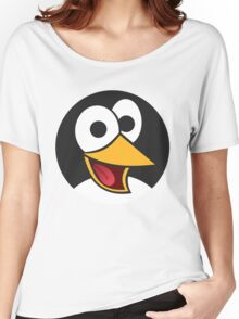 Happy Cartoon Penguin Face Women's Relaxed Fit T-Shirt