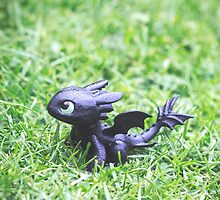 How to Train Your Dragon - Toothless Mini Figurine by KatyM