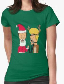Beavis & Butthead Christmas costume Womens Fitted T-Shirt