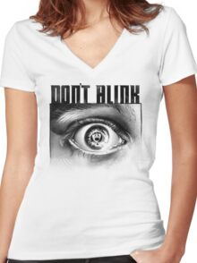Dont Blink Women's Fitted V-Neck T-Shirt