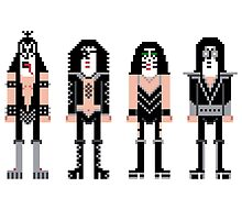 Pixel Kiss Rock Band by Sergey Vozika