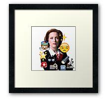 Scully emoji collage Framed Print