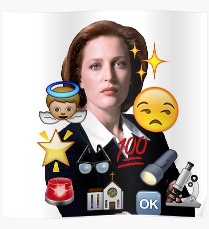 Scully emoji collage Poster